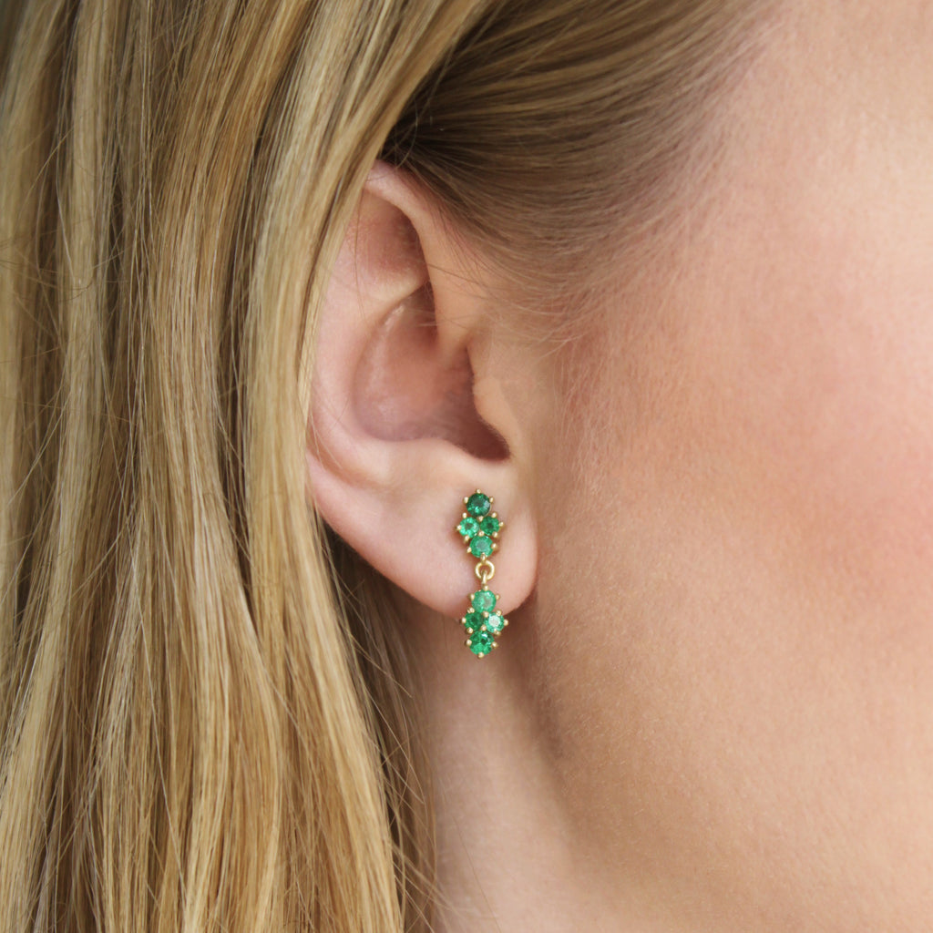 The Emerald Cluster Drop Earring