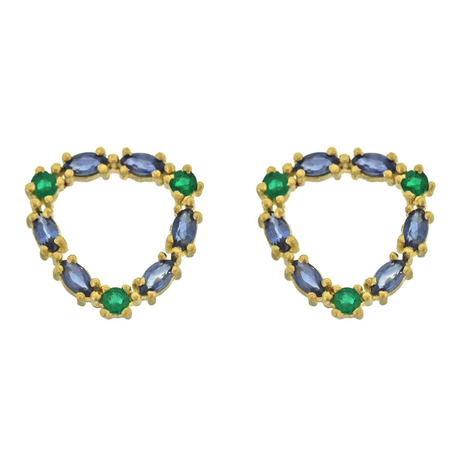 88e3ed8a2 ... The Sapphire and Emerald Loop Stud