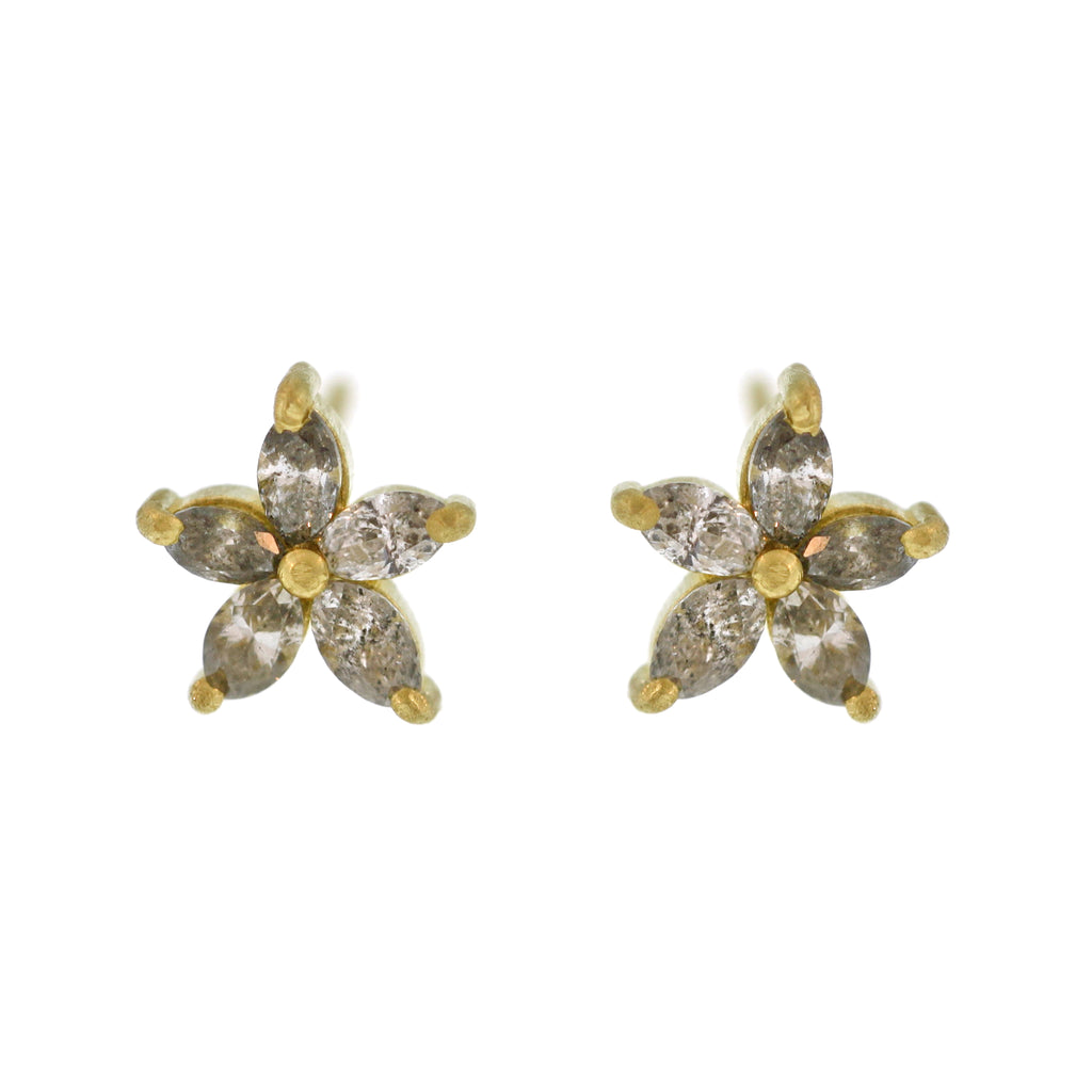 The Grey Diamond Starfish Stud