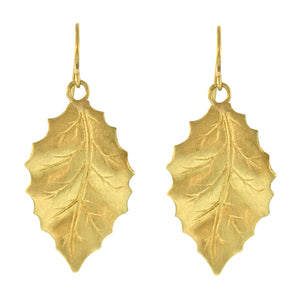 The Large Holly Leaf Dangle Earring