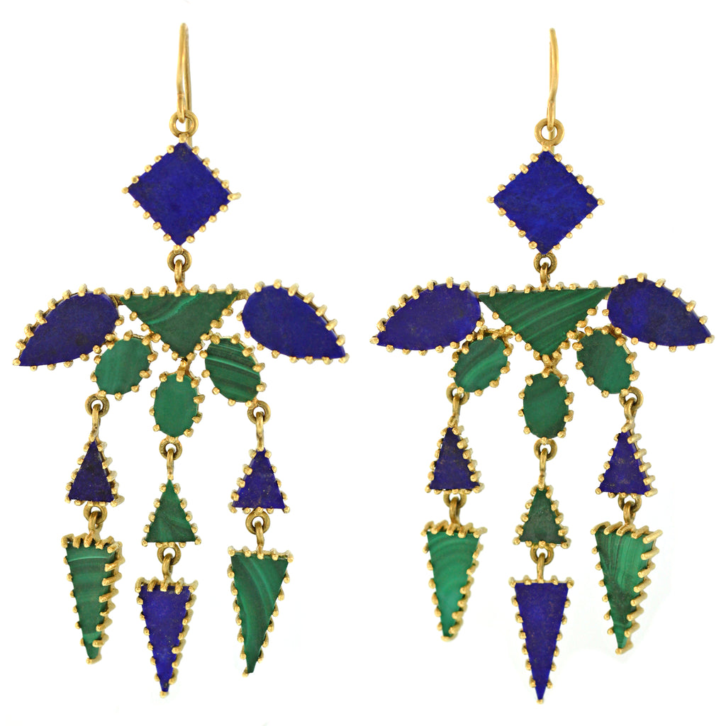 The Lapis & Malachite Dangle Earring