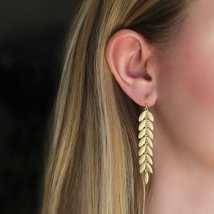The Long Lotus Leaf Dangle Earring