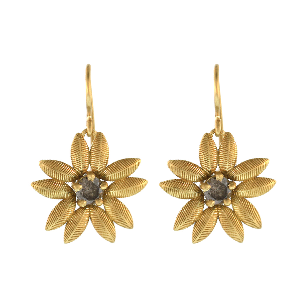 Lotus Sunflower Earrings