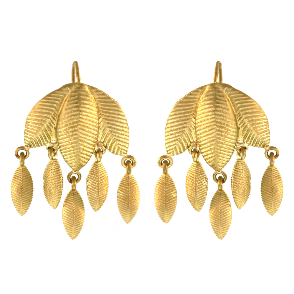 The Lotus Leaf Dangle Earring
