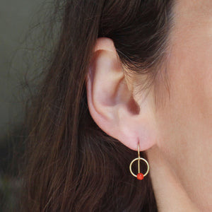 The Coral Mini Hoop Earring