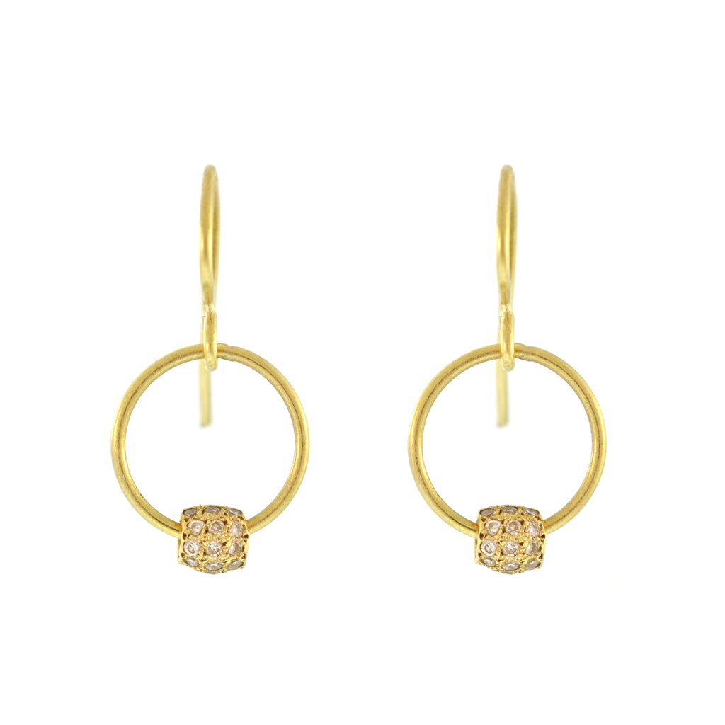 The Diamond Pavé Mini Hoop Earring