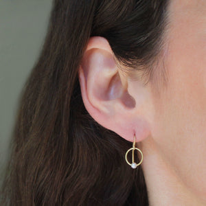 The Pearl Mini Hoop Earring