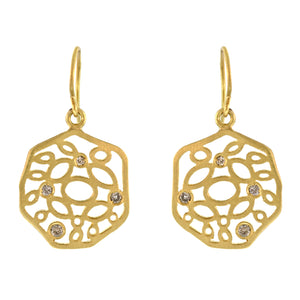 The Diamond Mosaic Disc Earring