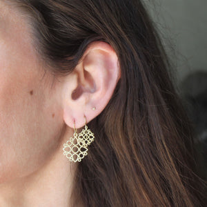 The Medium Lace Medallion Earring