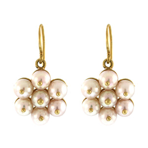 Large Pearl Flower Cluster Earrings