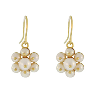 The Pearl Flower Cluster Earring
