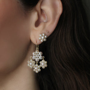 The Pearl Flower Dangle Earring