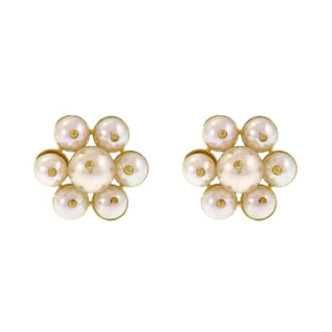 Small Pearl Flower Stud