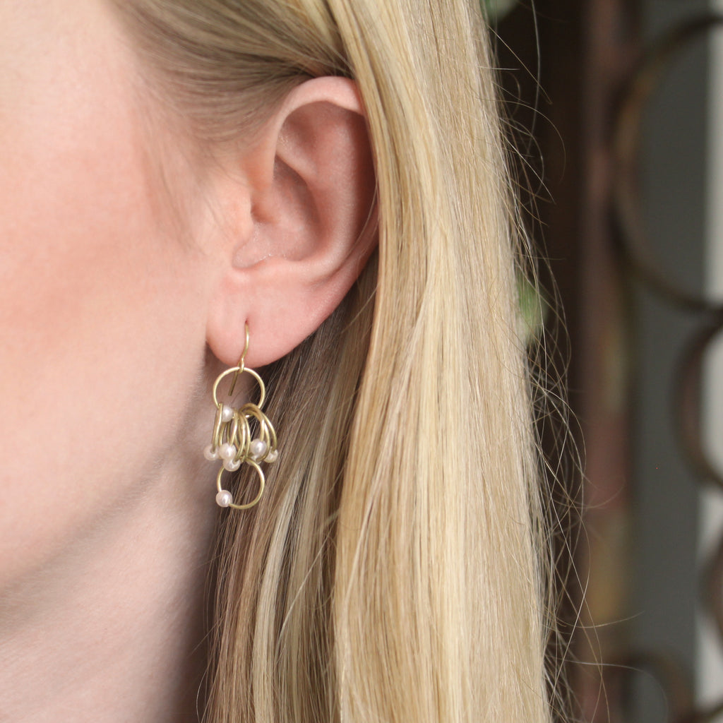 The Pearl Loop Cluster Earring