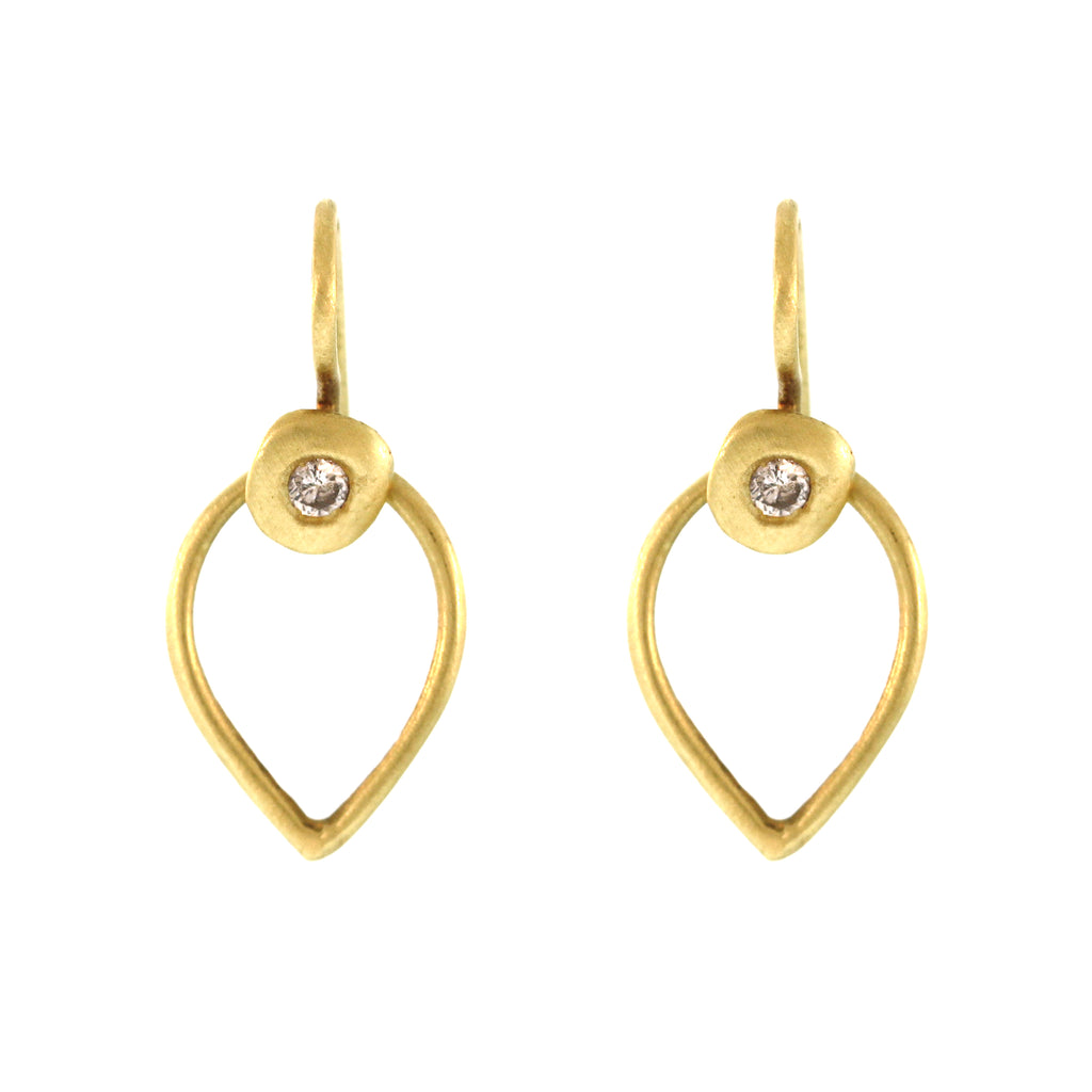 The Pear Loop Diamond Disc Earring