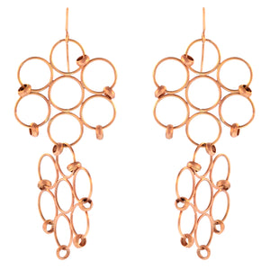 The Beaded Double Flower Loop Earring