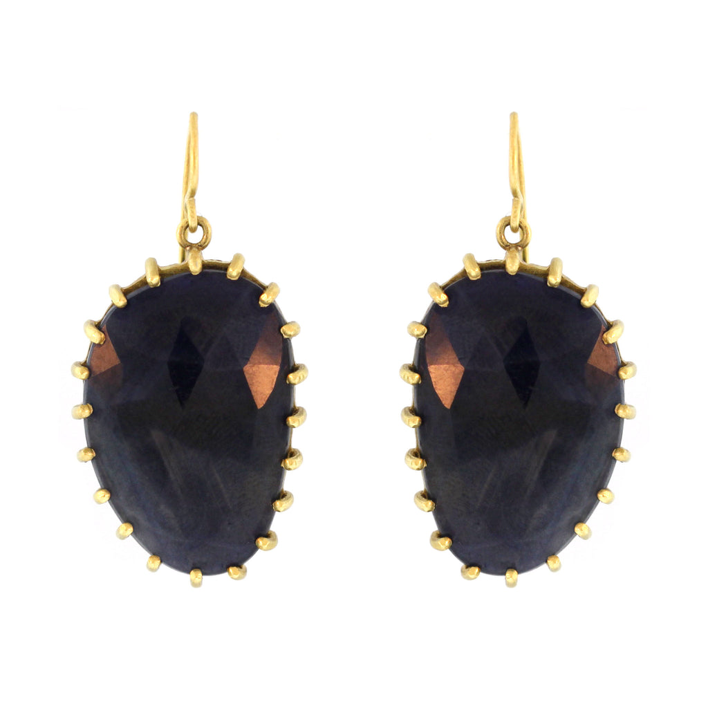 The Blue Sapphire Dangle Earrings