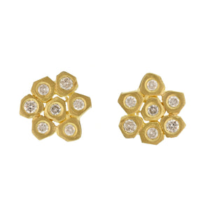 The Brilliant Diamond Flower Stud
