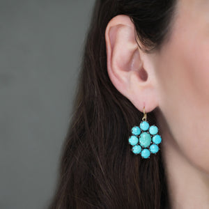 The Turquoise Flower Earring