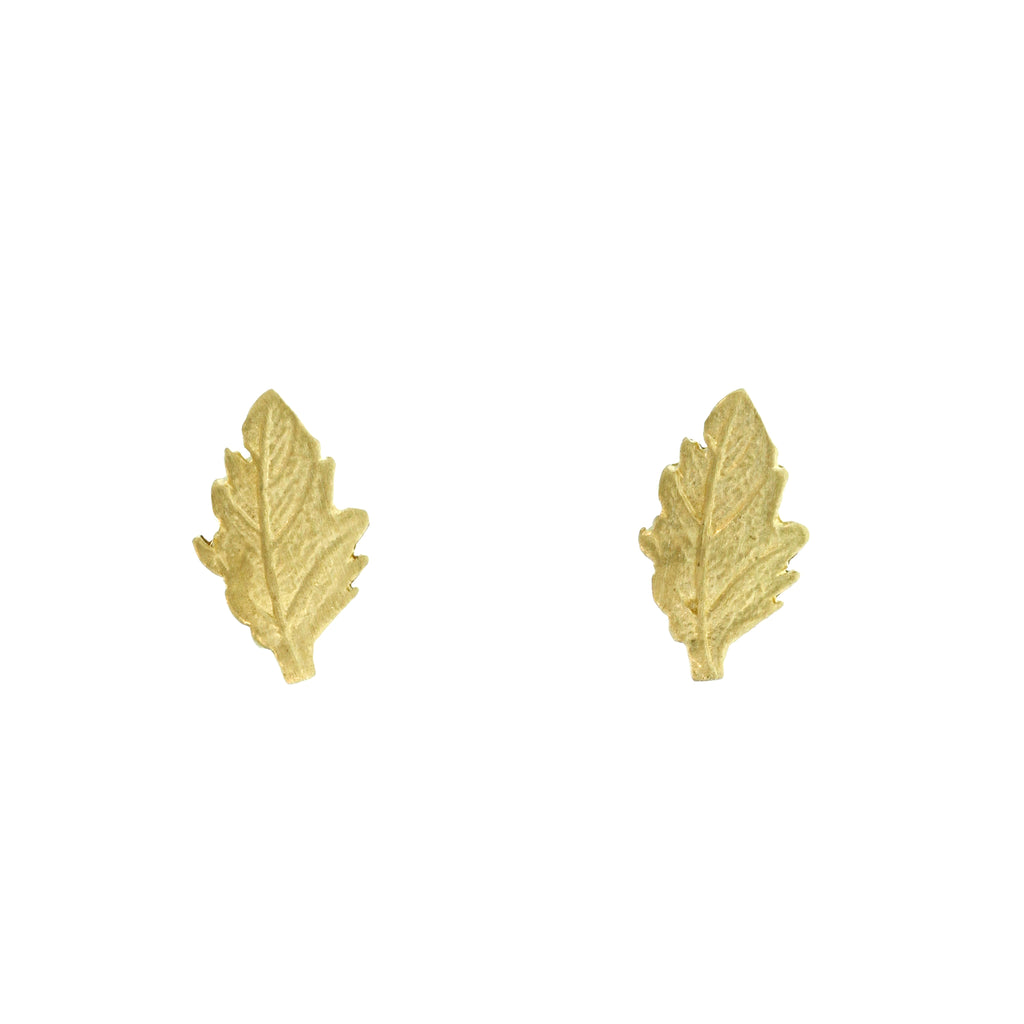 The Mini Oak Leaf Stud
