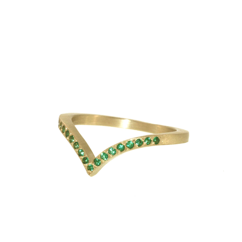The Emerald Phoebe Ring