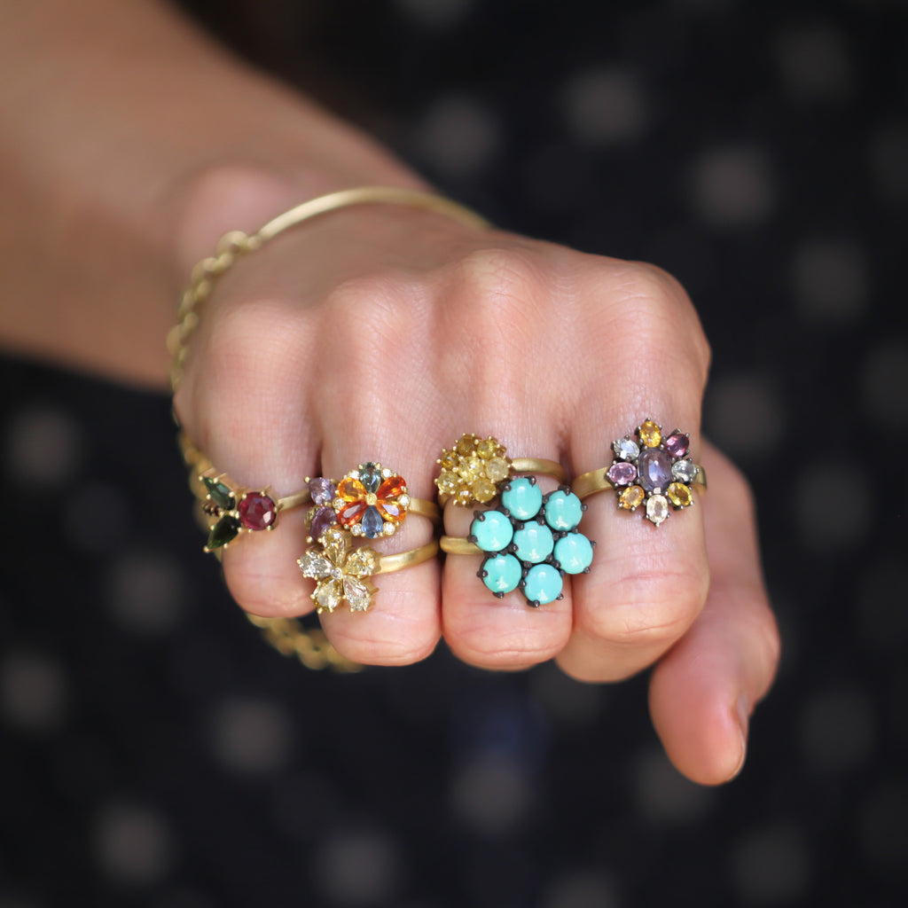 The Turquoise Flower Ring