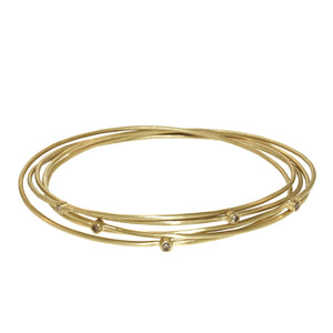 The Five Part Brilliant Diamond Lucky Star Bangle
