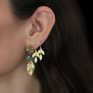 The Single Lotus Leaf Dangle Earrings