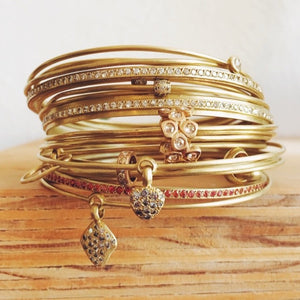 The Lace Bead Set of Bangles