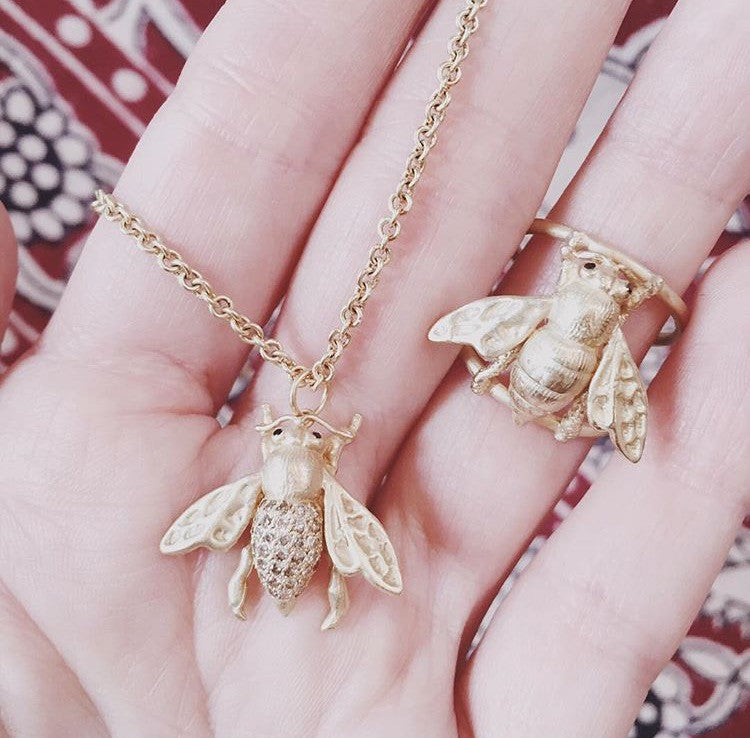 The Diamond Bee Necklace