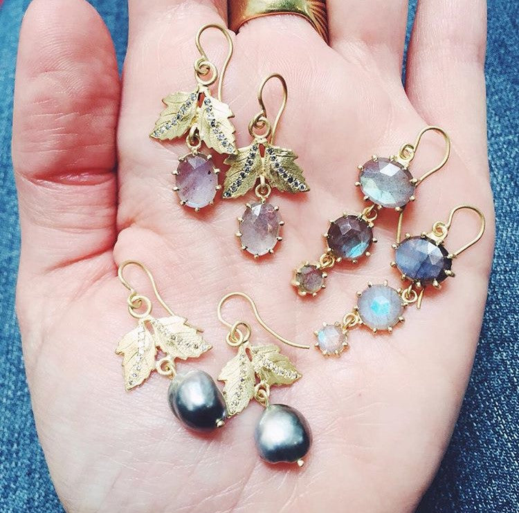 The Labradorite Eleanora Earring