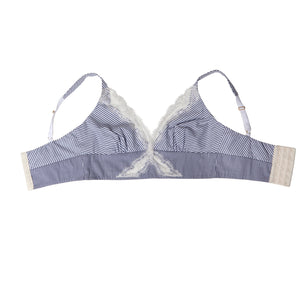 Gaia Bralette in Striped Stretch Cotton