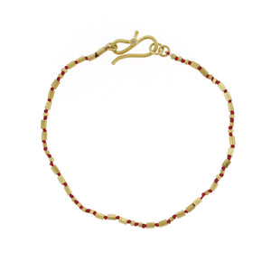 The Knotted Gold Bead Bracelet