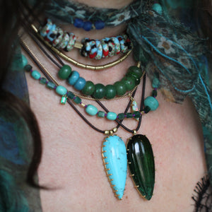 The Teardrop Turquoise Pendant