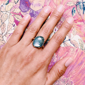 The Blue + Green Tanzanite Ring
