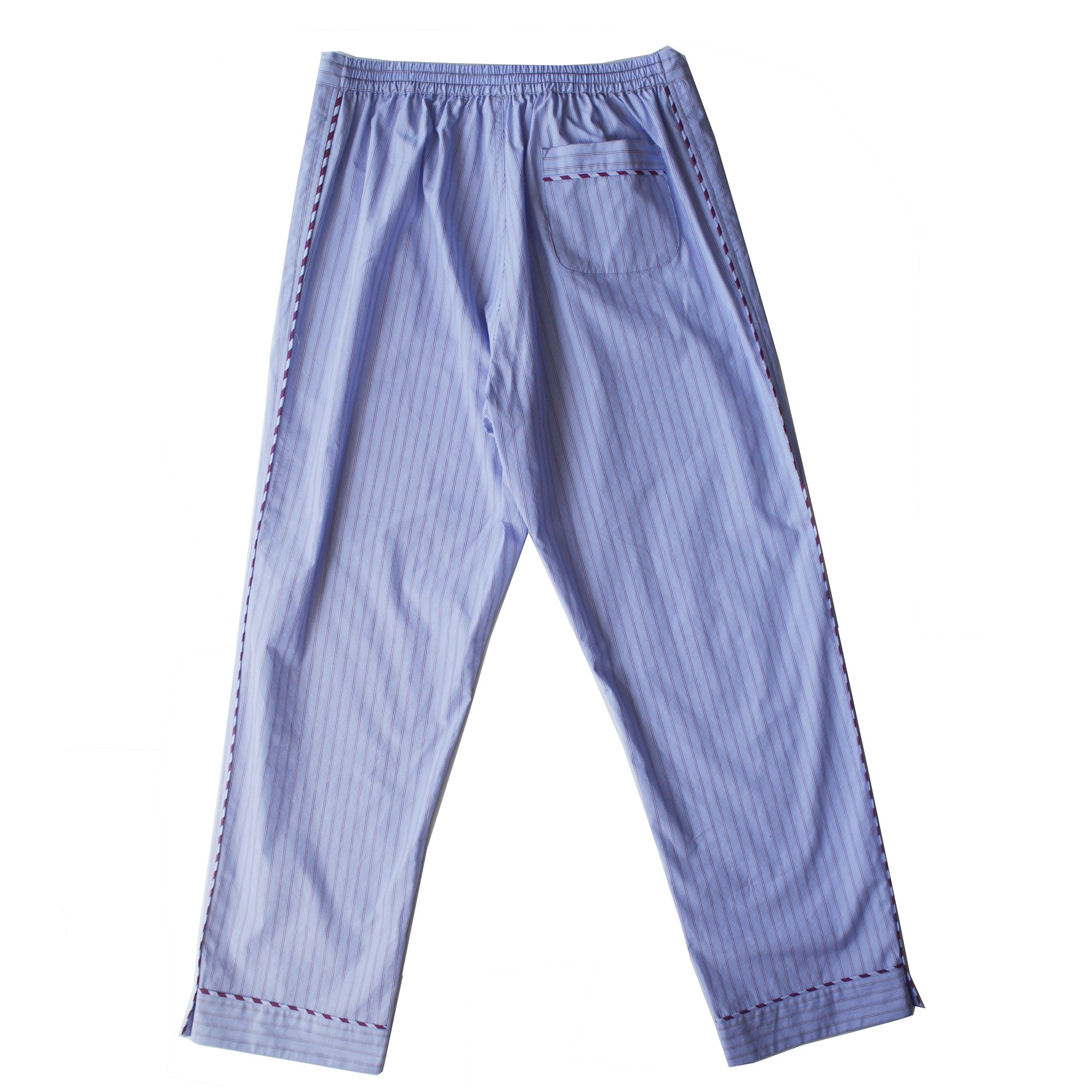 Saturn Pajama Pant in Light Blue Stripe Italian Cotton