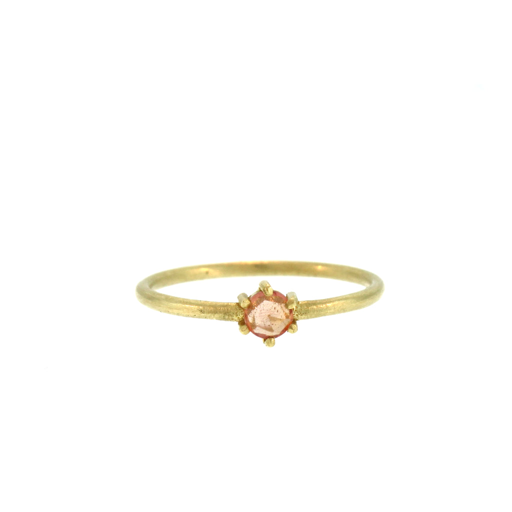 The Apricot Sapphire Ring