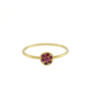The Ruby Pavé Disc Ring