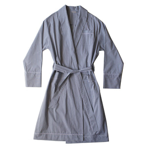 Janus Robe in Micro Plaid Italian Cotton