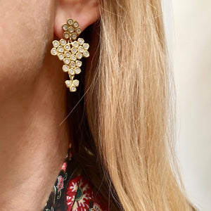 The Flower Cluster Diamond Earring