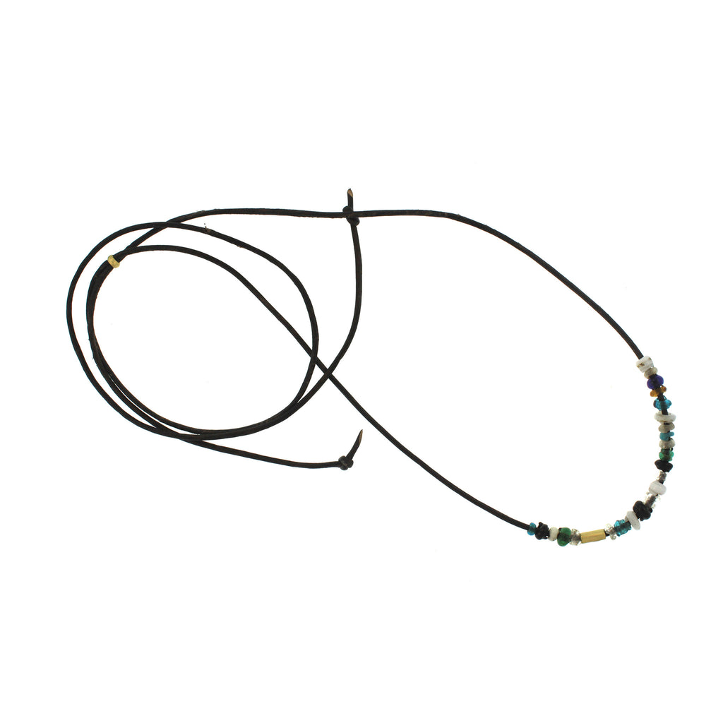 Ancient Chinese Glass Bead Necklace