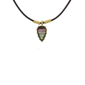 The Striped Tourmaline Pendant