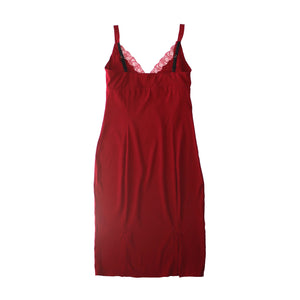 Laetitia Slip in Red Stretch Silk Charmeuse