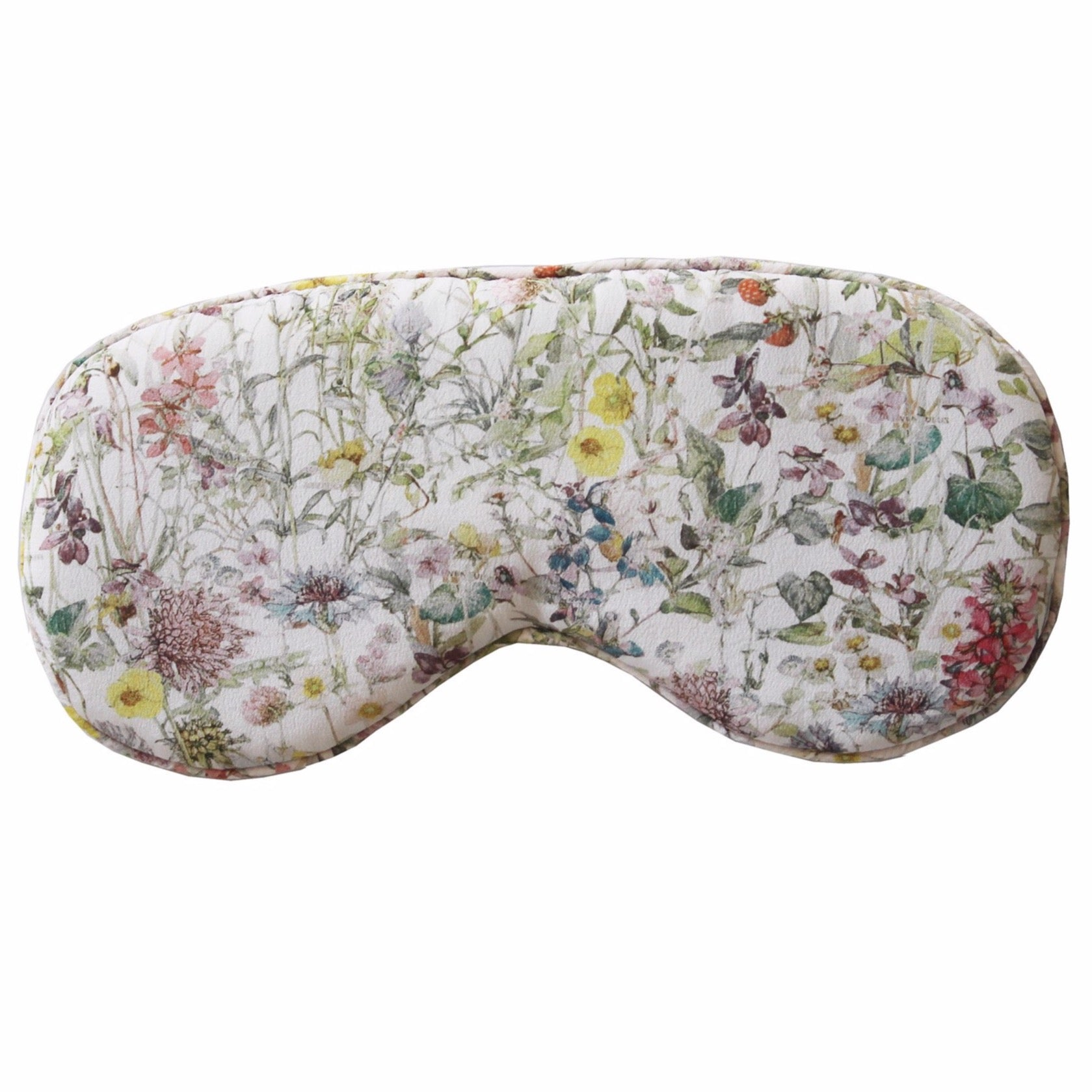 Hypnos Sleep Mask in Oyster Wildfowers Liberty Print