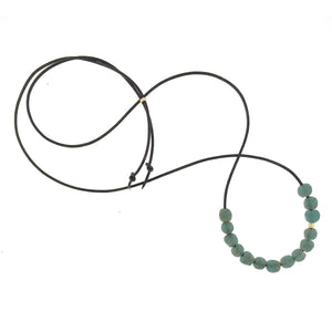 The Dusty Teal Glass Bead Necklace