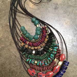 Vintage Conical African Bead Necklace