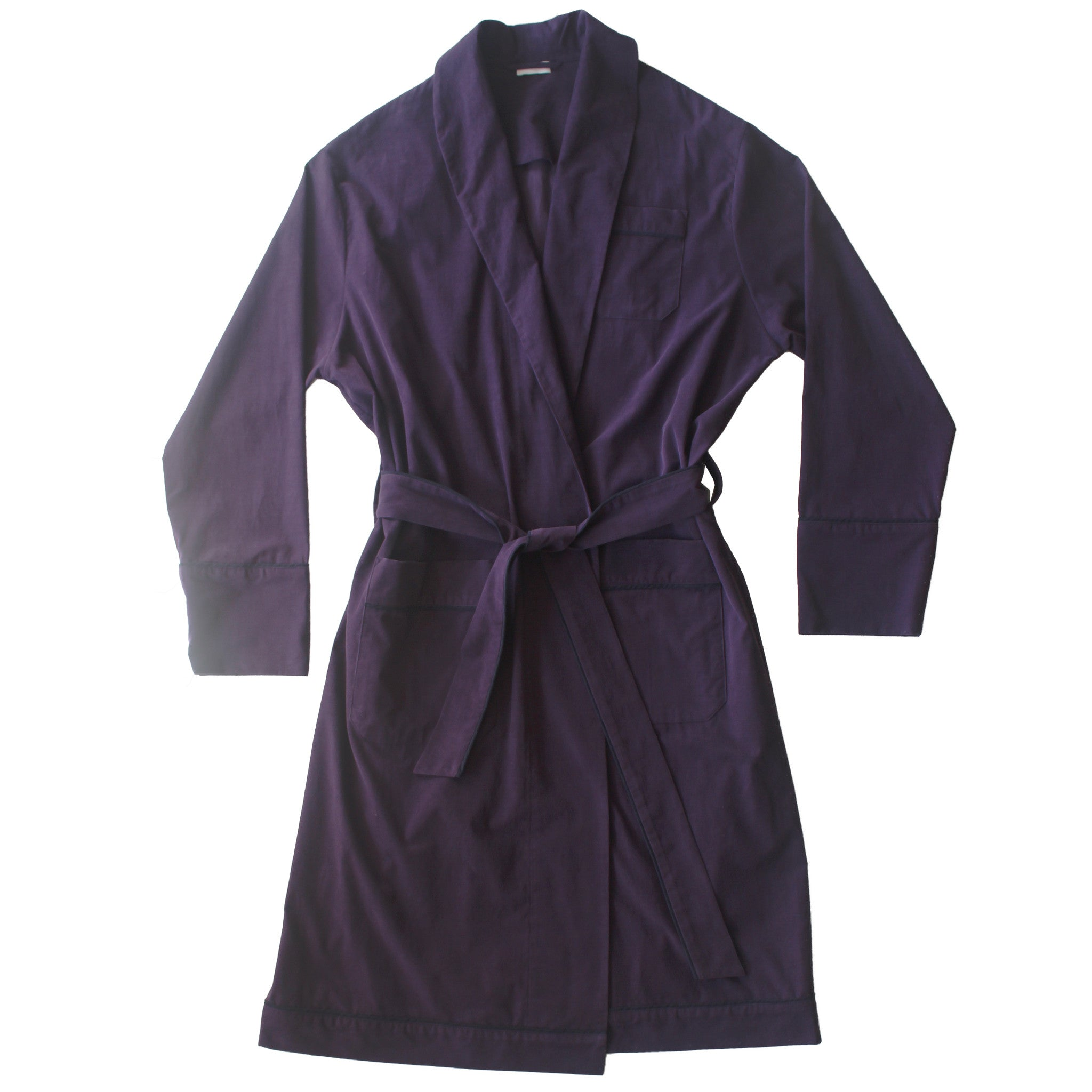 Janus Robe in Plum Italian Cotton Corduroy