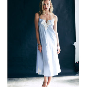 Thea Nightdress in Striped Cotton
