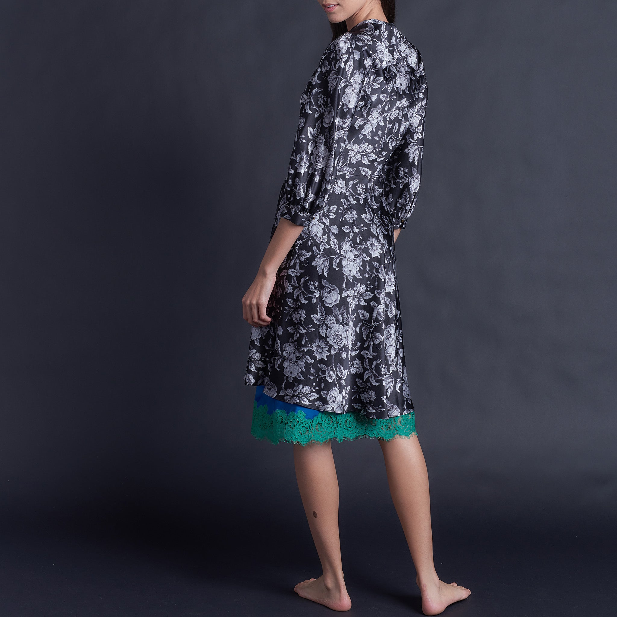 Maia Robe in Gracefully Liberty Print Silk Satin