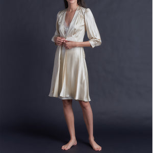 Maia Robe in Topaz Silk Charmeuse